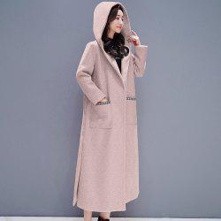 Baggy Long and Thick Hooded Overcoat -