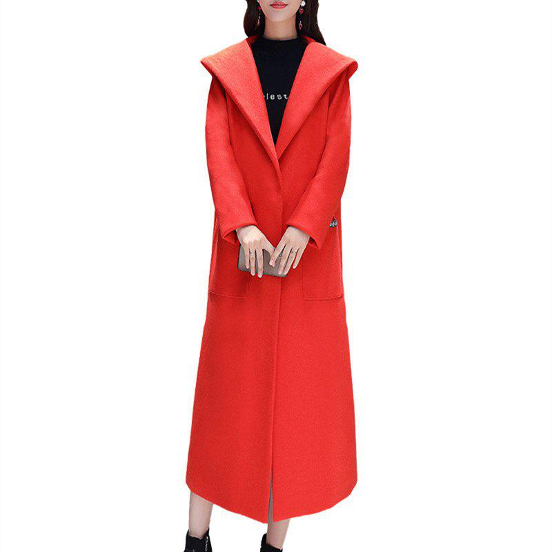 Chic Baggy Long and Thick Hooded Overcoat