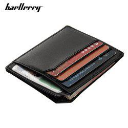 Baellerry  PU Leather Convenient ID Pocket  Card Holder -