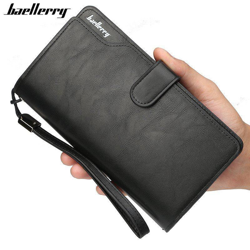Sale Baellerry Men Top Quality Leather Wallet Purse Fashion Casual Male Clutch
