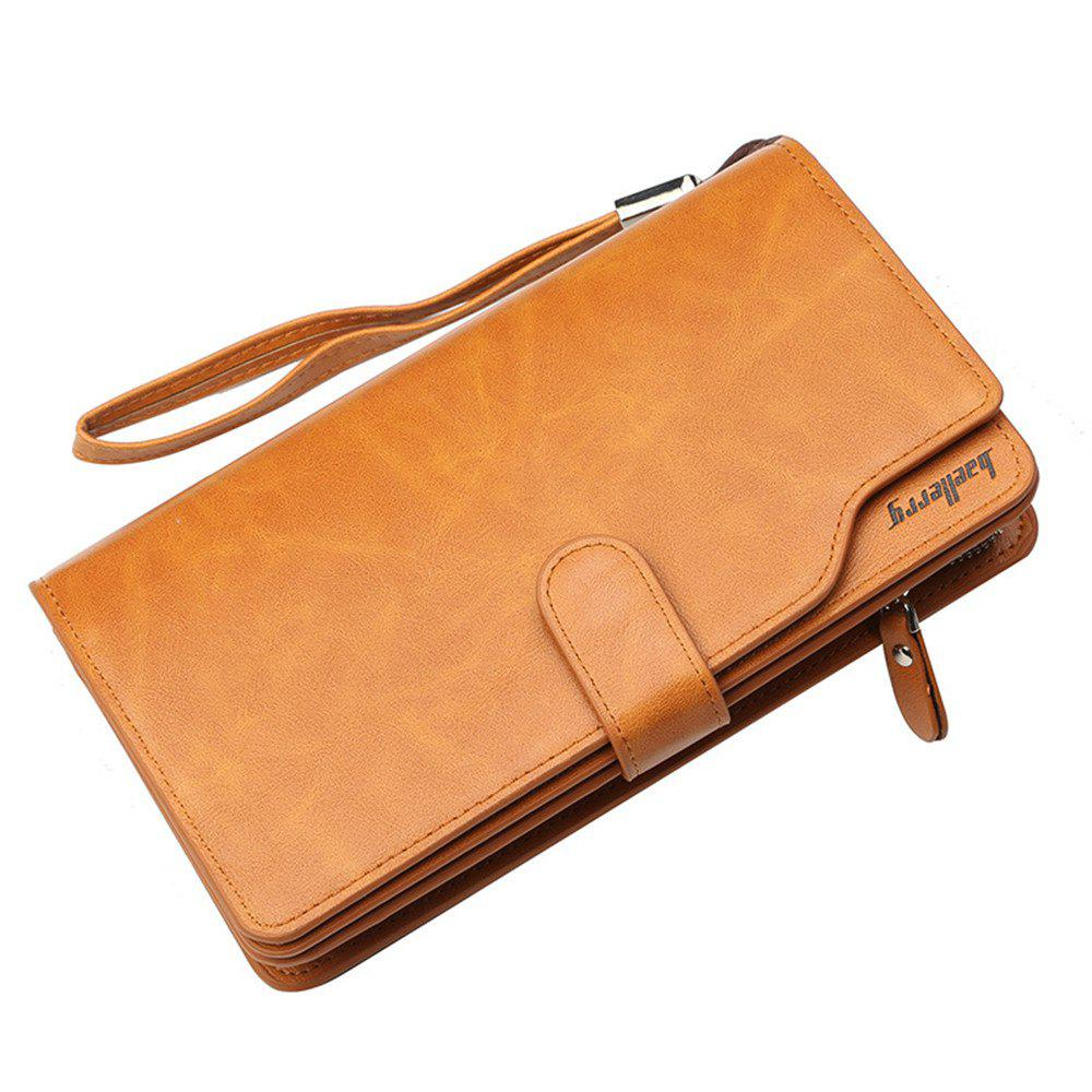 Online Baellerry Men Top Quality Leather Wallet Purse Fashion Casual Male Clutch