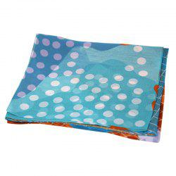 Yueor Mulberry Silk Printed Scarf Beach Sun Protection Georgette -