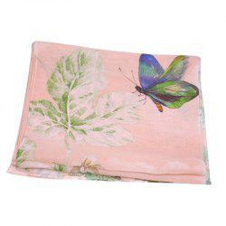 Yueor Mulberry Silk Printed Scarf Beach Sun Protection Georgette Shawl -