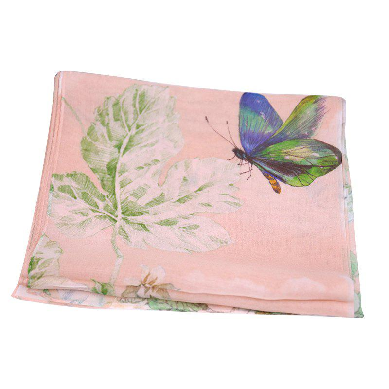Latest Yueor Mulberry Silk Printed Scarf Beach Sun Protection Georgette Shawl