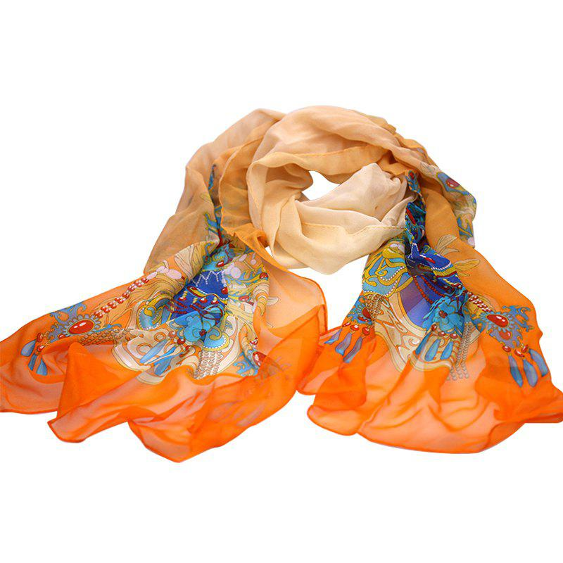 Hot Yueor Mulberry Silk Printed Scarf 8mm Georgette Shawl