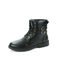Winter Men's Casual Shoes England Style Boots High Helper Casual Boots -