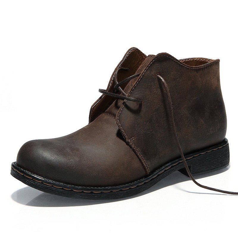 Trendy New Middle-class Leather Shoes Outdoor Men's Boots