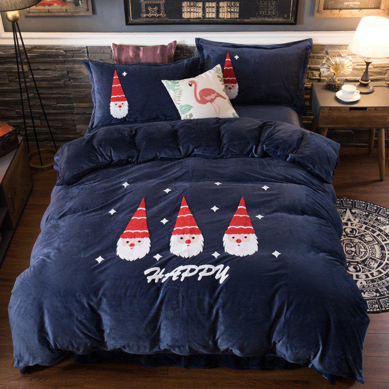 Store Crystal Velvet Santa Claus Series Towel Embroidered Four-piece