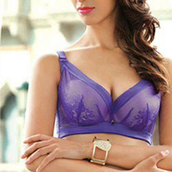 JACLYH Lace Brassiere Lady Large Code Deep V Sexy Bra -