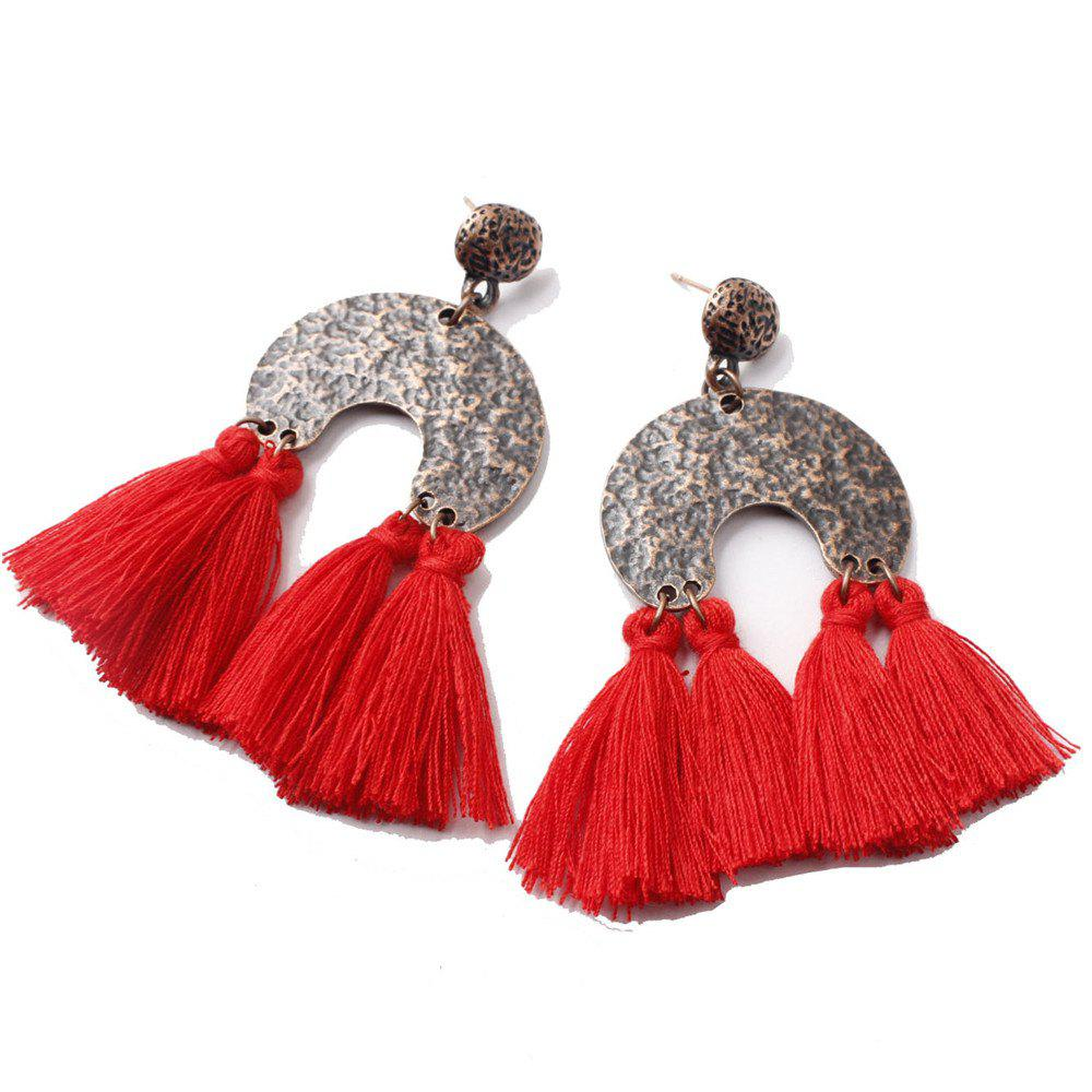 Hot European Style Fashion Bohemian Retro Fashion Exaggerated Tassel Earrings