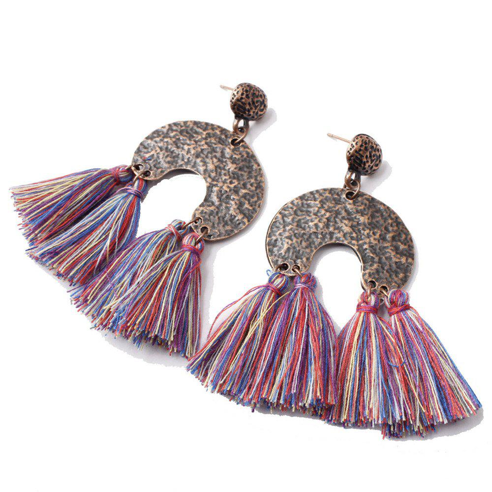 Bild von European Style Fashion Bohemian Retro Fashion Exaggerated Tassel Earrings