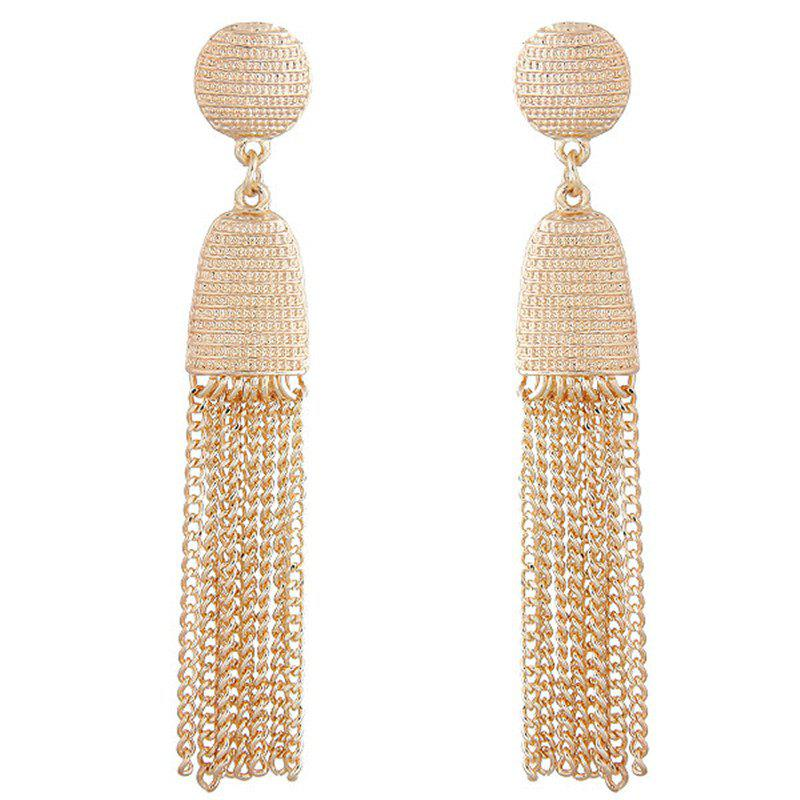 Outfit European Style Fashion Metal Tassels Exaggerated Drop Earrings