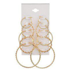 5-PIECE Set of New Women'S Fashion Exaggeration Circle Earrings -