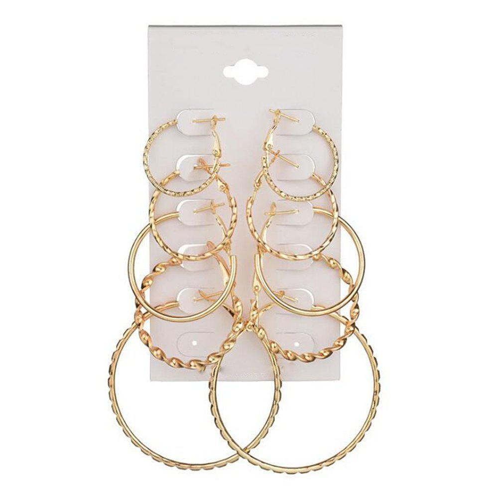 Shops 5-PIECE Set of New Women'S Fashion Exaggeration Circle Earrings