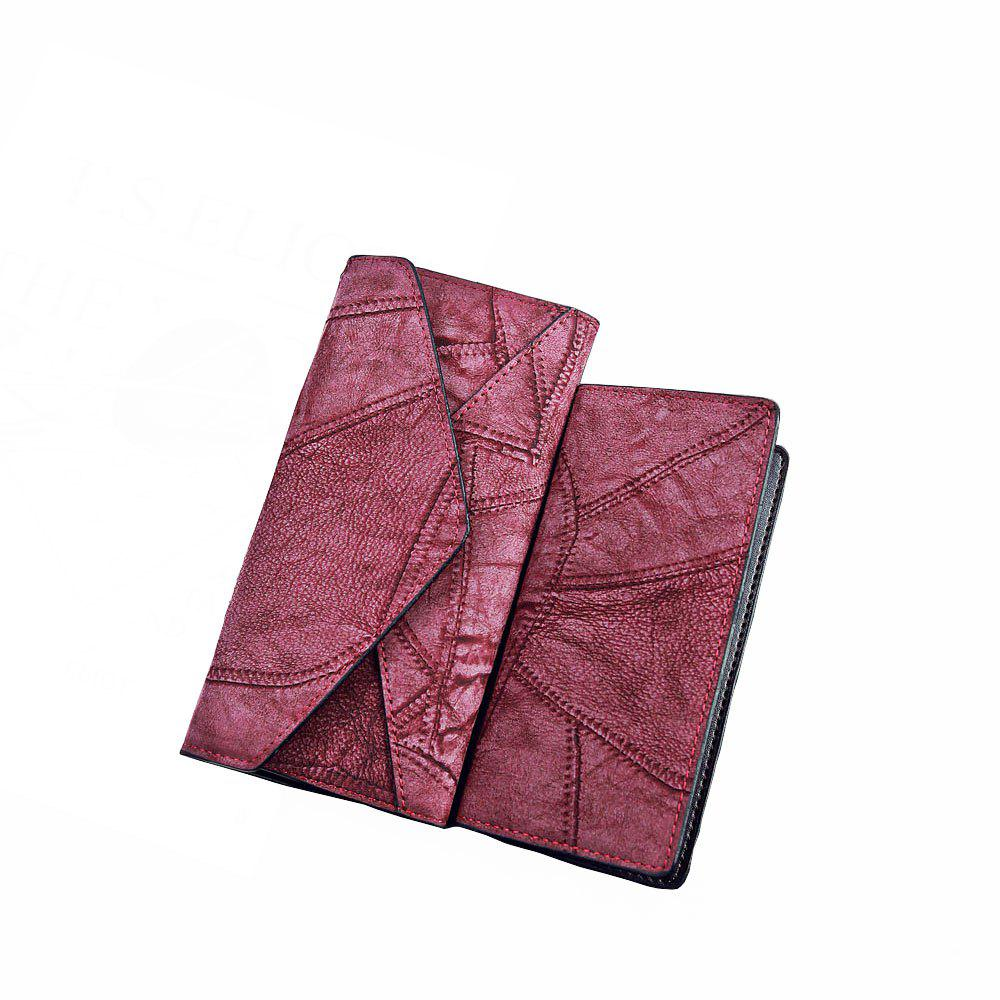Shop Fashion PU Long Ladies Wallet Two-Piece Clutch Bag Card Package