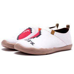 Women's Mr. and Mrs. Painted Canvas Slip-On Shoes Fashion Travel Art Casual Shoe -