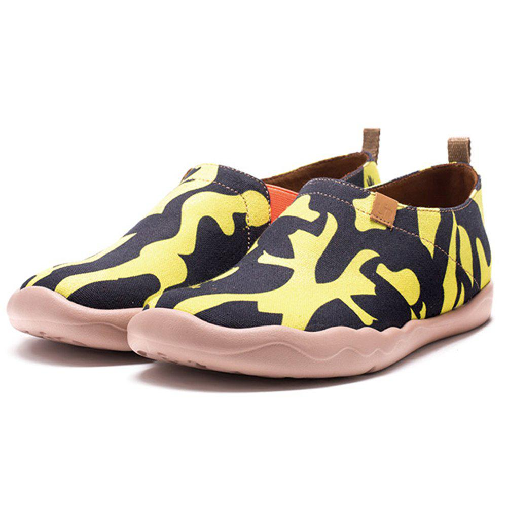 New Women's Listen Your Heart Painted Canvas Slip-On Shoes Travel Casual Shoes