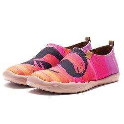 Women's Embrace Painted Canvas Slip-On Shoes Travel Casual Shoes Red -