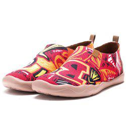 Women's Barcelona Painted Canvas Slip-On Shoes Fashion Travel Art Casual Shoes -