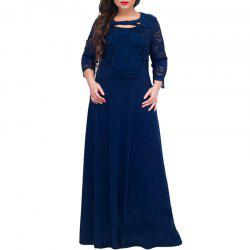 Fashion 2018 Lace Women Dress Plus Size Elegant Long Dress -