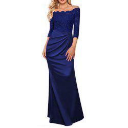 Women's Sexy Lace Purity Colour Dress -