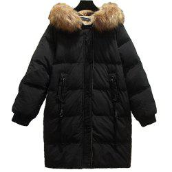 Women's Plus Size Loose Quilted Coat -
