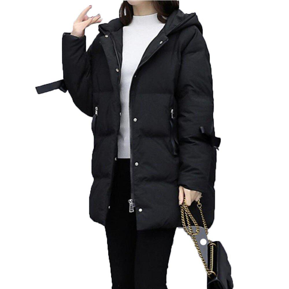 Hot Women's Loose Long Sleeve Quilted Coat