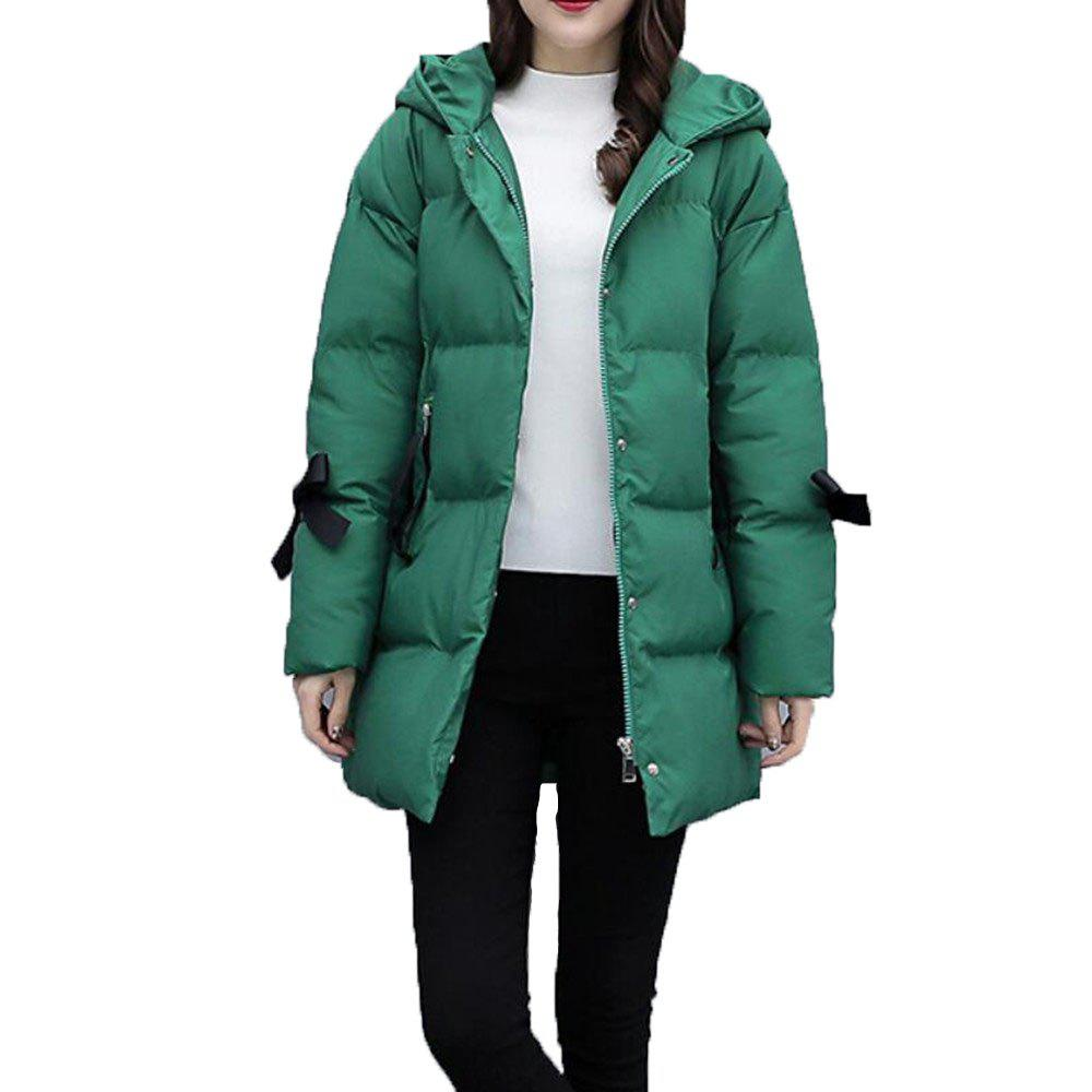 Online Women's Loose Long Sleeve Quilted Coat