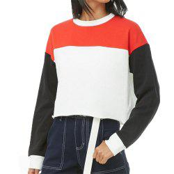 Women's  Long Sleeve Round Collar Loose Sweatshirt -