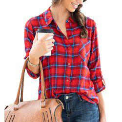 Women's Long Sleeve Plaid Shirt -