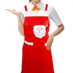 YEDUO Christmas Aprons Red Bib Waitress Fancy Dress Costumes -