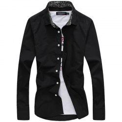 Fashion and Business Man'S Long Sleeve Shirt -