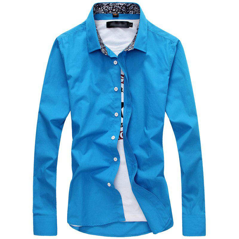 Chic Fashion and Business Man'S Long Sleeve Shirt