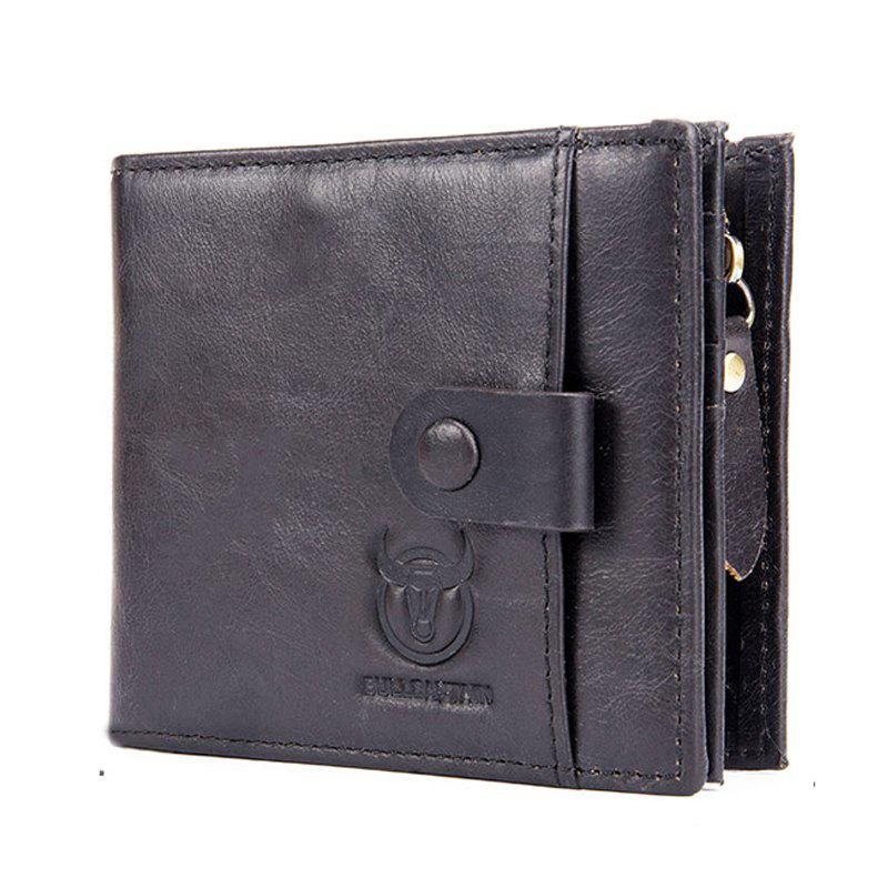 Latest Genuine Leather Men Wallet Small Zipper Male Short Coin Purse Card Holder