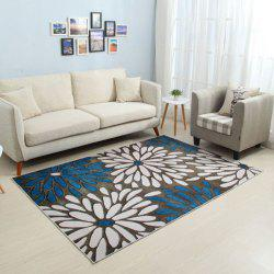 Household Decorative Carpet Fresh Style Floral Pattern Soft Bedside Non-Slip Ma -
