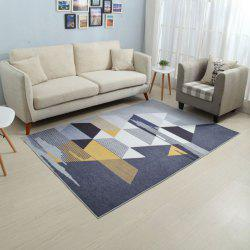 Living Room Floor Mat Modern Style Fashion Geometry Pattern Anti-skid Mat -