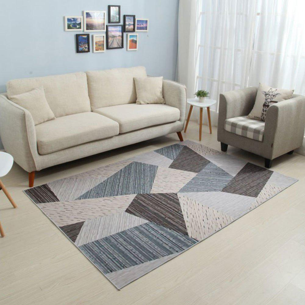 Store Bedroom Non-Slip Mat Brief Style Geometric Pattern Rectangle Floor Mat