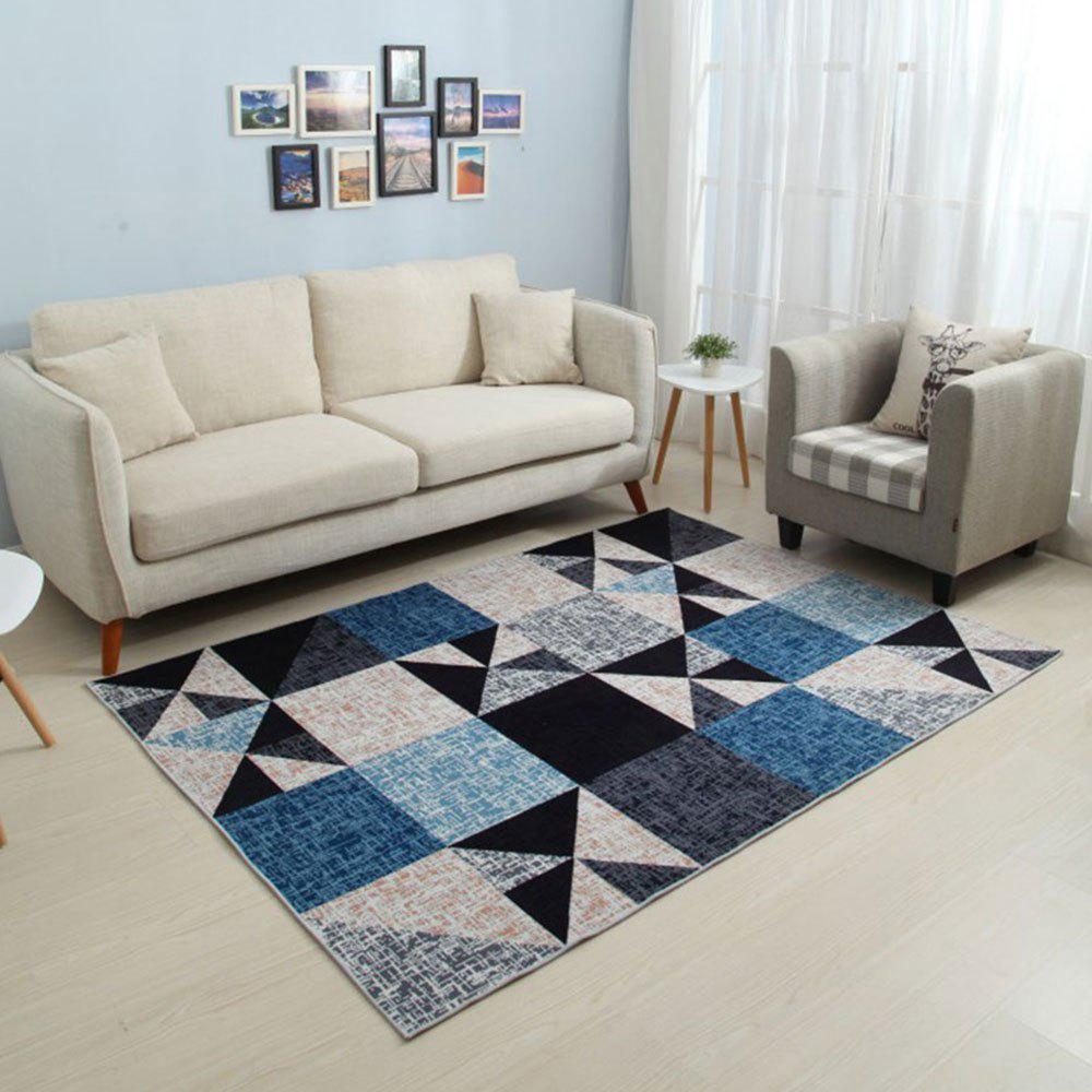 Outfits Bedroom Floor Mat Modern Brief Style Geometric Pattern Soft Non-Slip Mat
