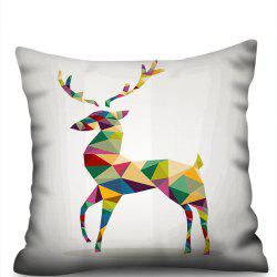 Colorful Deer Double-Sided Printing Imitation Hemp Pillowcase Without Core -