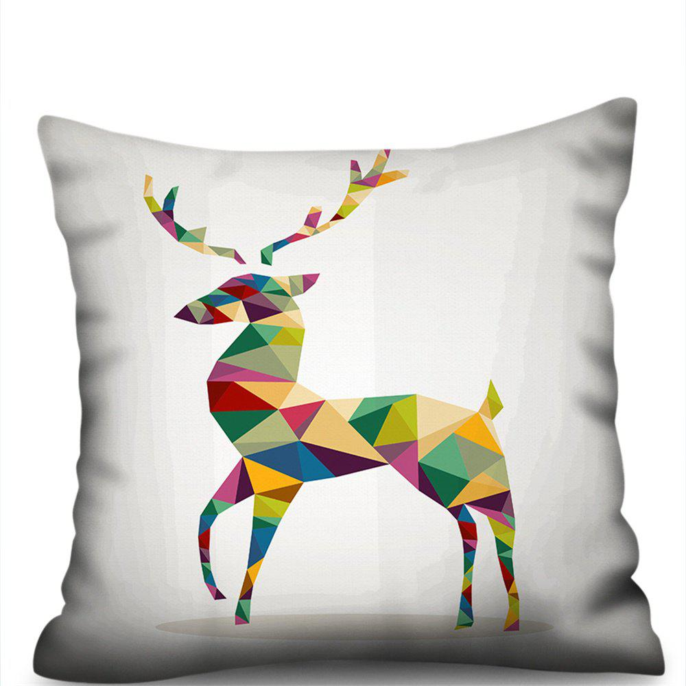 Outfits Colorful Deer Double-Sided Printing Imitation Hemp Pillowcase Without Core