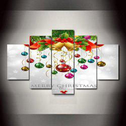 Colorful Bells Frameless Printed Canvas Art Print 5PCS -