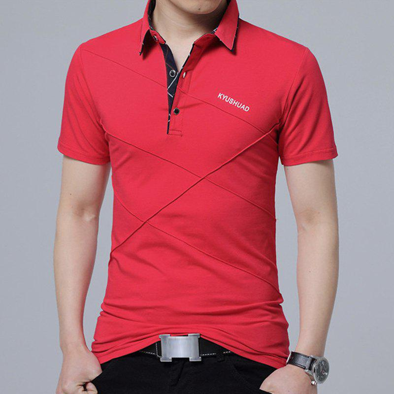 Trendy New Man Fashion Full Sleeve Turn-Down Collar Cotton Solid T-Shirt