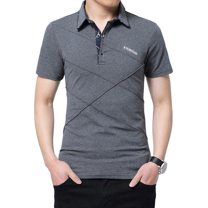 Fancy New Man Fashion Full Sleeve Turn-Down Collar Cotton Solid T-Shirt