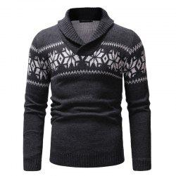New Man Fashion Turn-Down Collar Full Sleeve Casual Sweater -
