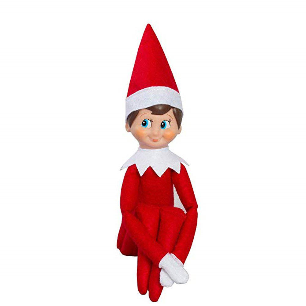 52% OFF ] 2018 The Christmas Elf Soft Toy Smiley Face Sits On Shelf ...