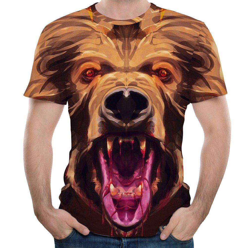 Best New Men Casual Fashion Monkey Head 3D Printed Short T-Shirt