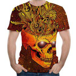 New Men Fashion Novelty Skull 3D Printed Short T-Shirt -