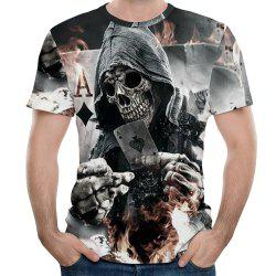 New Men Fashion Shantou 3D Print Short T-Shirt -
