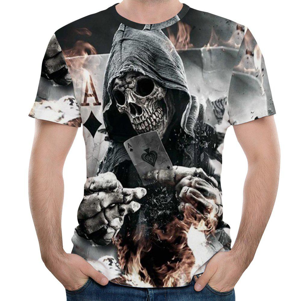 Trendy New Men Fashion Shantou 3D Print Short T-Shirt