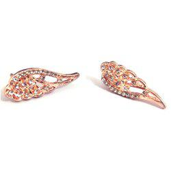 Little Angel Wings Alloy Full Drill Hollowed-Out Flash Earrings -